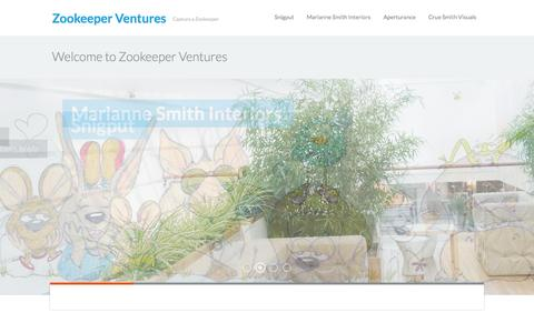Screenshot of Home Page zookeeperventures.com - Zookeeper Ventures — Capture a Zookeeper - captured Oct. 1, 2014