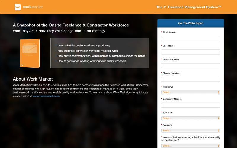 Snapshot of the Onsite Freelance Workforce | Work Market