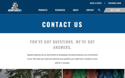 Screenshot of Contact Page samsonrope.com - Contact - captured Dec. 13, 2018