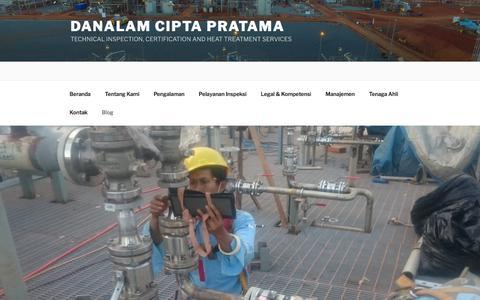 Screenshot of Blog danalam.co.id - Blog – Danalam Cipta Pratama - captured July 11, 2017