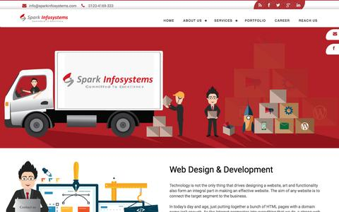 Screenshot of Services Page sparkinfosystems.com - Digital Agency India - Web Design, Development & Marketing Services - captured Sept. 30, 2017