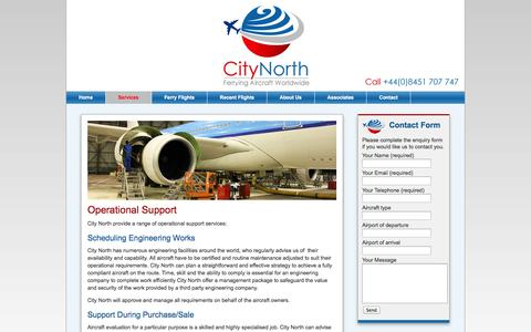 Screenshot of Support Page citynorth.eu - Aircraft Operational Support | City North - captured Oct. 2, 2014