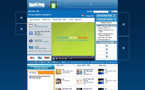 Screenshot of Press Page tuoitre.vn - .: TTO MediaOnline :. - captured Sept. 18, 2014
