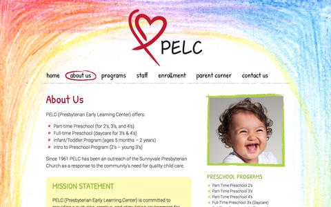 Screenshot of About Page pelc.us - About Us | Presbyterian Early Learning Center - captured Aug. 17, 2017