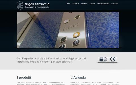 Screenshot of Home Page frigoliascensori.it - Ascensori e Montacarichi a Brescia – Frigoli Ferruccio - captured Oct. 14, 2015