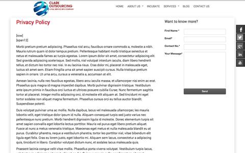 Screenshot of Privacy Page clarkoutsourcing.com - Clark Outsourcing - captured Sept. 23, 2014