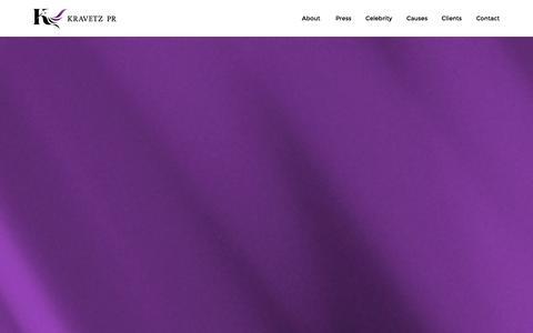 Screenshot of Home Page kravetzpr.com - Kravetz PR - captured Oct. 6, 2014