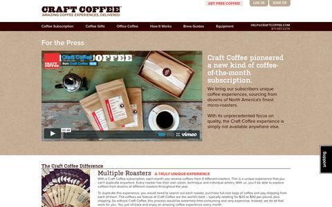 Screenshot of Press Page craftcoffee.com - Press | Craft Coffee - captured Sept. 13, 2014