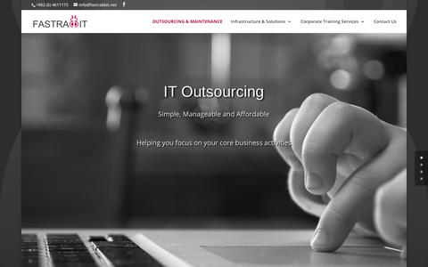 Screenshot of Home Page fastrabbit.net - IT Products & IT Outsourcing Solutions company in Jordan | Fastrabbit - captured Aug. 10, 2018