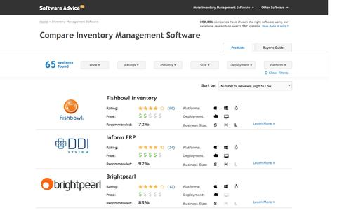 Top Inventory Management Software - 2016 Reviews