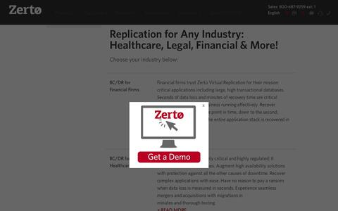 Replication & Disaster Recovery for Any Industry| Zerto