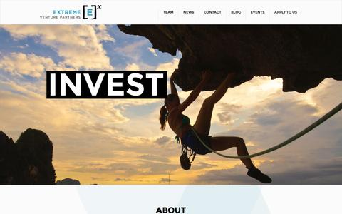 Screenshot of Home Page extremevp.com - Extreme Venture Partners | Build Invest Grow - captured Jan. 26, 2015