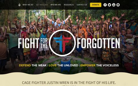 Screenshot of Signup Page water4.org - Fight For The Forgotten - Water4 - captured Jan. 12, 2016