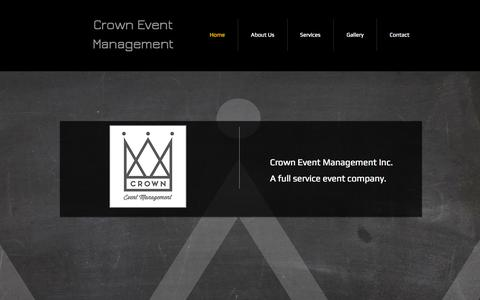Screenshot of Home Page crowneventmanagement.com - Crown Event Management - captured Sept. 30, 2014