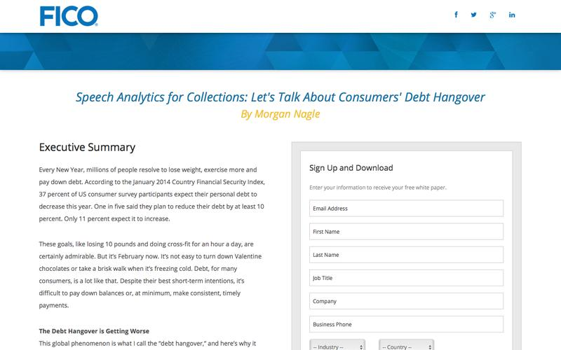 Download the FICO White Paper - Harnessing the Speech Analytics Advantage: How split-second analysis of conversations can boost compliance and performance