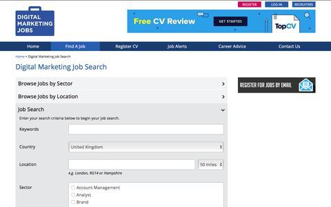 Screenshot of Jobs Page digitalmarketingjobs.com - Digital Marketing Job Search - DigitalMarketingJobs.com - captured Aug. 12, 2019