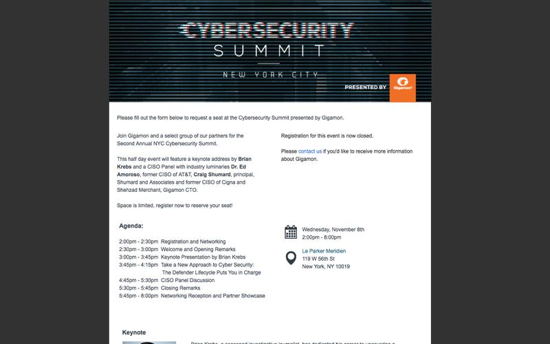 NYC Cybersecurity Summit