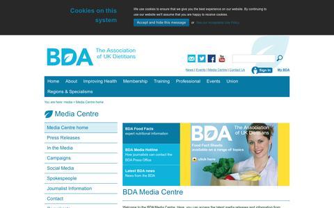 Screenshot of Press Page bda.uk.com - home - captured Nov. 30, 2016
