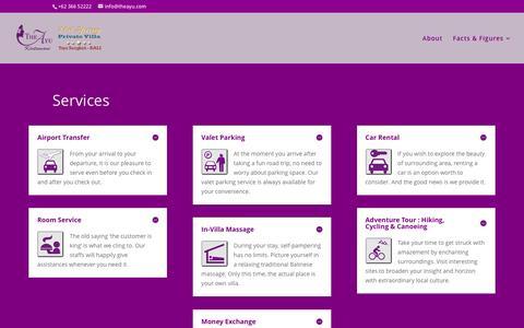 Screenshot of Services Page theayu.com - Services | The Ayu Kintamani Villa - captured Feb. 15, 2016