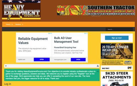 Screenshot of Login Page heavyequipmentforums.com - Log in | Heavy Equipment Forums - captured Oct. 21, 2018