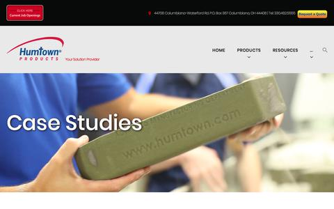 Screenshot of Case Studies Page humtown.com - Case Studies | Humtown Products - captured Sept. 19, 2017