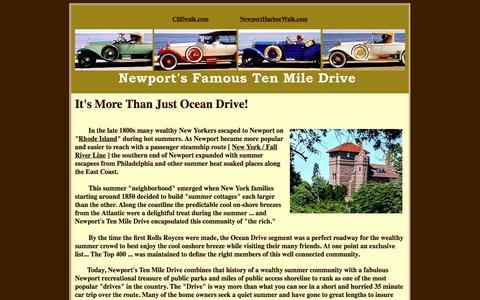 Screenshot of Home Page oceandrivenewport.com - Newport, RI – Ten Mile Drive - captured Oct. 10, 2015