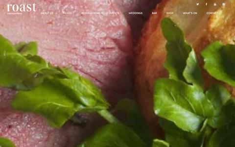 Screenshot of Home Page roast-restaurant.com - Roast Restaurant | Deliciously British - captured Jan. 29, 2016