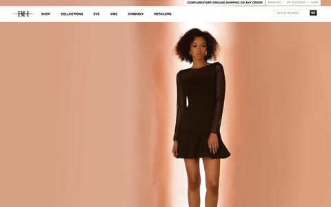 Screenshot of Home Page blackhalo.com - Official Black Halo Clothes Store Online - captured Sept. 25, 2014