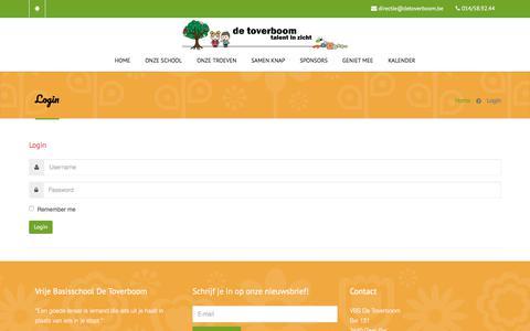 Screenshot of Login Page detoverboom.be captured Jan. 29, 2018