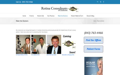 Meet the Doctors | Retina Consultants of Charleston