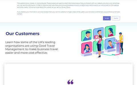 Screenshot of Case Studies Page good-travel.co.uk - Case Studies Archive - Good Travel Management - captured Nov. 4, 2019