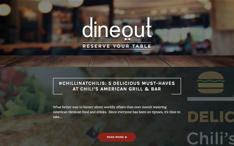 Screenshot of Blog dineout.co.in - Dineout - Table Reservations - captured Nov. 15, 2016