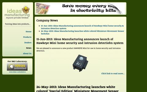 Screenshot of Press Page ideasmfg.in - Ideas Manufacturing Mysore Pvt Ltd. - News - captured Oct. 6, 2014