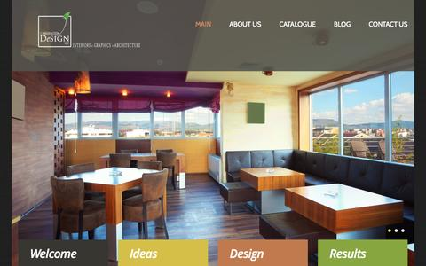 Screenshot of Home Page lwashingtondesign.com - LWashingtonDesign | Design and Real Estate - captured Oct. 1, 2014