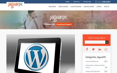 Screenshot of Blog jaguarpc.com - Web Hosting News, Tips & Tricks and More | JaguarPC Blog - captured Dec. 23, 2017