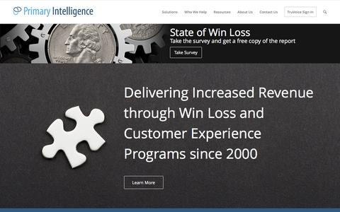 Primary Intelligence | Win Loss & Customer Experience