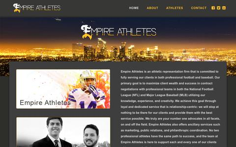 Screenshot of Home Page empireathletes.com - Empire Athletes | Sports Agency | Los Angeles, Calif. - captured July 18, 2018