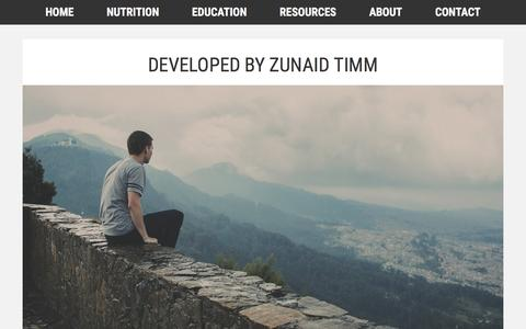 Screenshot of Developers Page iancraig.net - Developed by Zunaid Timm - captured April 30, 2017