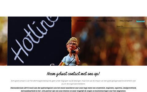 Screenshot of Contact Page artofevents.nl - Contact met Art of Events Utrecht via mail of telefoon? - captured Oct. 4, 2018