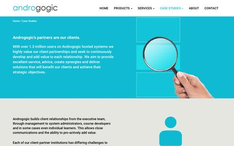 Screenshot of Case Studies Page androgogic.com - Case Studies — Androgogic - captured May 30, 2017