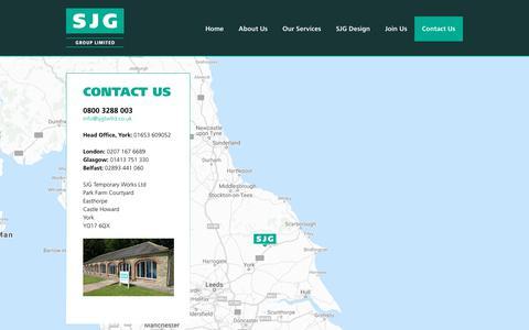 Screenshot of Contact Page sjgtwltd.co.uk - Contact Us - SJG Temporary Works - captured Sept. 30, 2018