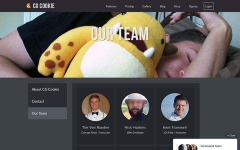 Screenshot of Team Page cgcookie.com - Our Team � CGCookie - captured Dec. 8, 2015