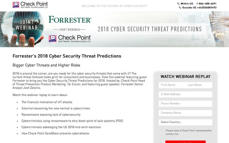 Forrester's 2018 Cybersecurity Threat Predictions | Check Point Software