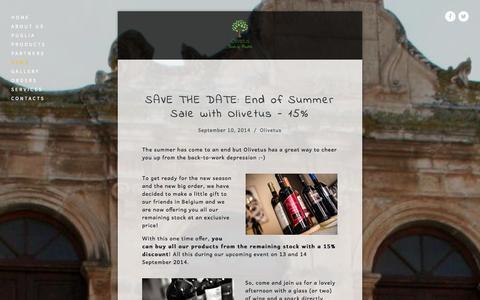 Screenshot of Press Page olivetus.com - News — Olivetus Taste of Puglia - captured Oct. 26, 2014