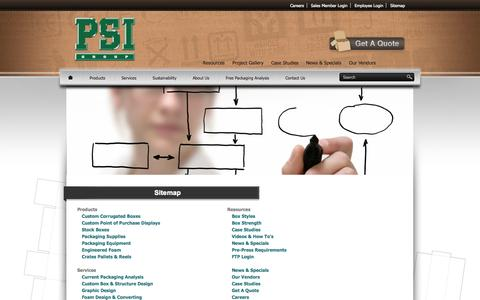 Screenshot of Site Map Page psimd.com - Sitemap - PSI   - captured Oct. 1, 2014