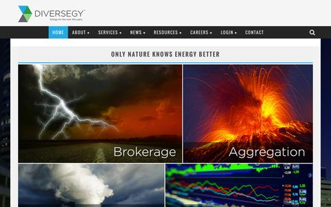 Screenshot of Home Page diversegy.com - Diversegy | Energy for the next 100 years. - captured Sept. 30, 2014