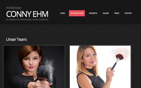 Screenshot of Team Page conny-ehm.de - Team | Fotostudio Conny Ehm - captured April 30, 2018
