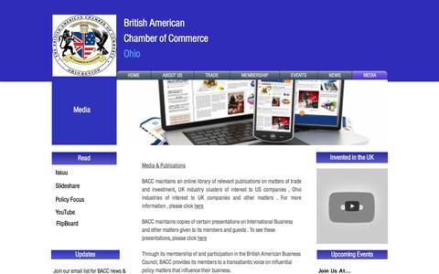 Screenshot of Press Page baccohio.org - Media - captured Nov. 23, 2016