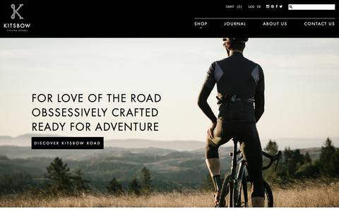 Screenshot of Home Page kitsbow.com - Mountain Bike Apparel | Kitsbow - captured Feb. 10, 2016