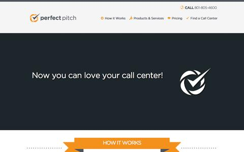 Screenshot of Pricing Page perfectpitchtech.com - Home page - Perfect Pitch - captured Nov. 1, 2014